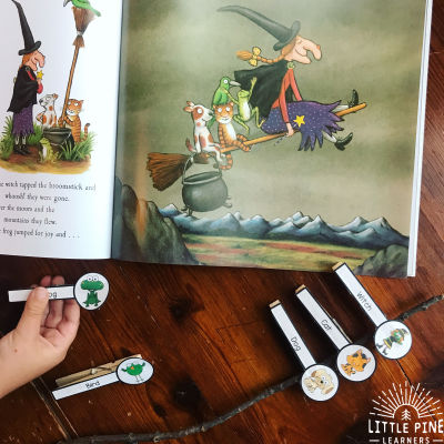 "Hands-On Ways to Retell ""Room on the Broom"""