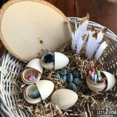 Loose Parts Easter Eggs