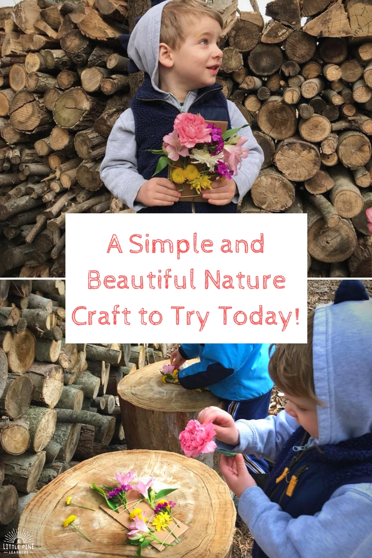 A simple and beautiful nature craft to try today! This activity is perfect for your next outdoor adventure.