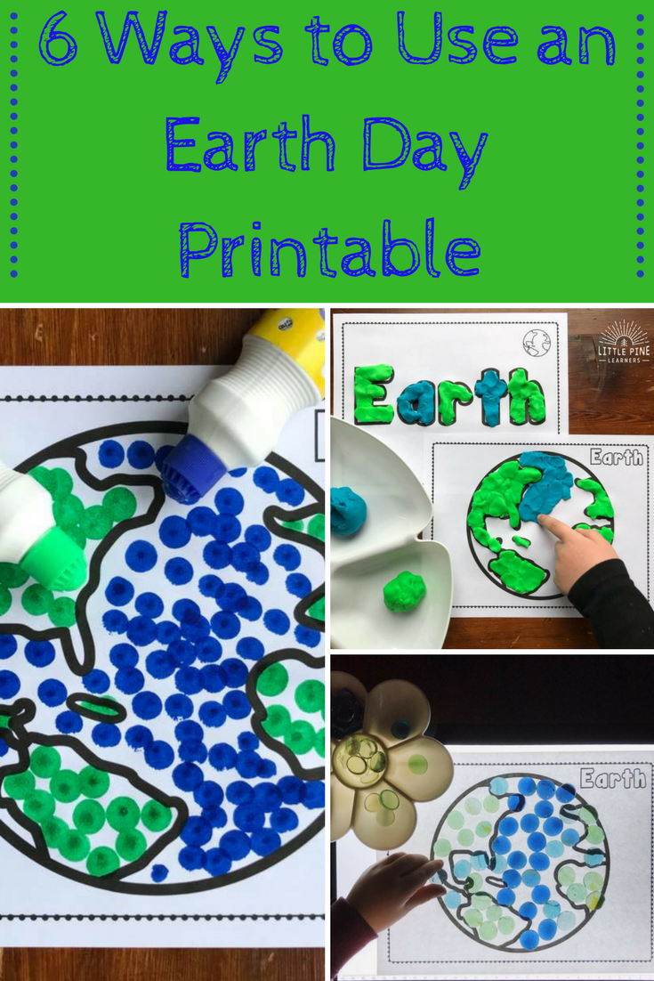 Looking for fun ways to use an Earth Day printable? Here are 6 simple and creative ways to decorate the Earth this spring!
