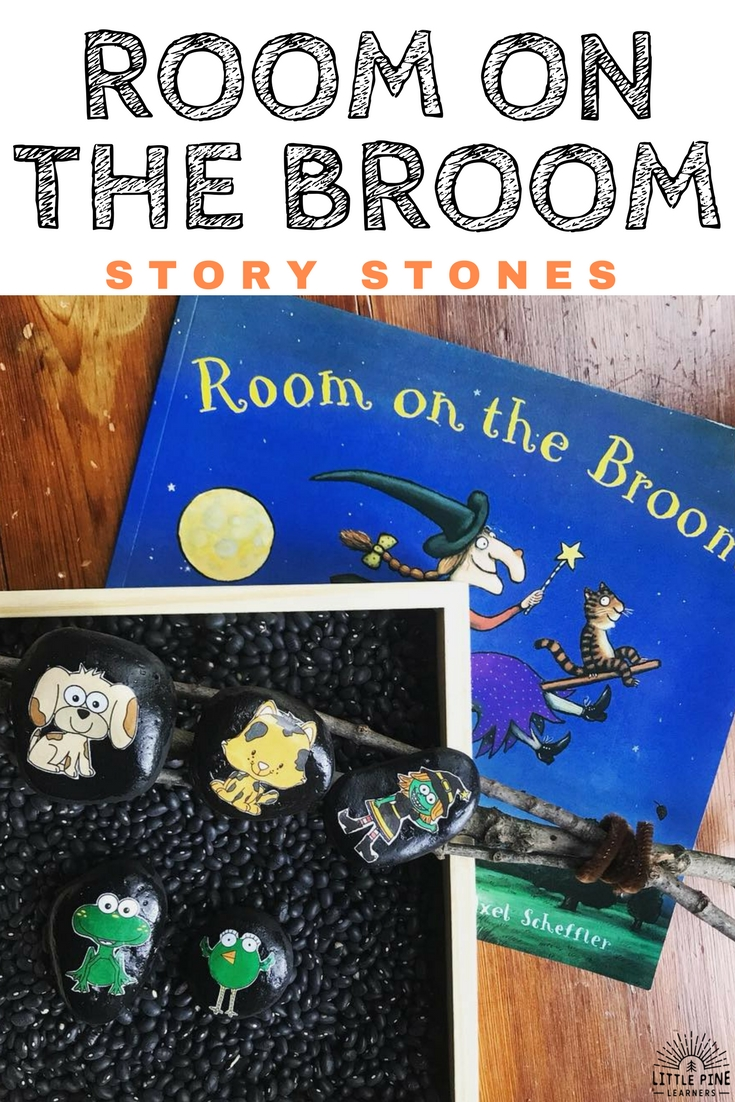 Room on the Broom: Hands-On Activities is a packet of 6 hands-on activities to try with the story Room on the Broom by Julia Donaldson. Practice retelling the story in many different ways with this resource. The activities include: a story mat with character cards, graphics for story stones, clothespin characters, cut and paste story sequencing, puzzle pieces to retell the end of the story, and a potion sheet!