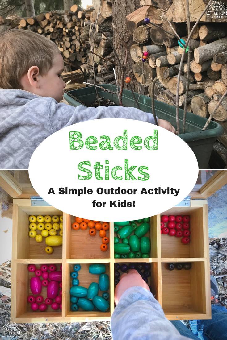 Work on fine motor skills, color recognition, patterns, and so much more with this fun outdoor activity for kids! The set up is super simple and activity is always a hit with my boys.