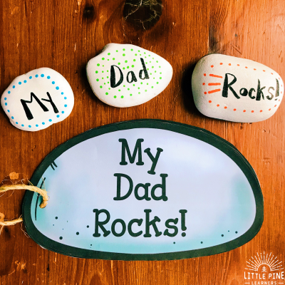 Father's Day Book and Stacking Stone Craft