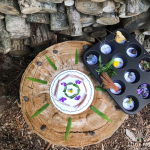 Making nature mandalas is calming, relaxing and fun!