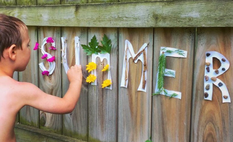 Sticky Paper Nature Words for Kids