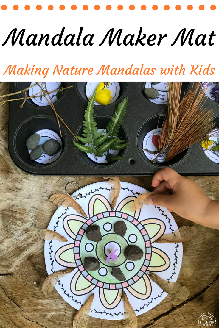 """A mandala is derived from the Sanskrit word meaning """"circle."""" Many people use mandalas in a spiritual practice, while others simply appreciate their artistic and symmetrical beauty.Making nature mandalas is calming and relaxing. It's also great for nurturing your child's creativity and problem solving skills. Read on to learn a simple way to teach your children how to create these beautiful works of art!"""