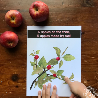 A Nature Gift Created by Kids- Apples