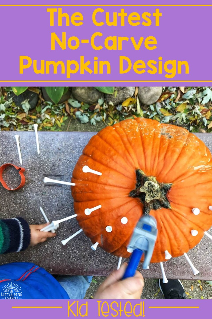 The cutest no carve pumpkin design!