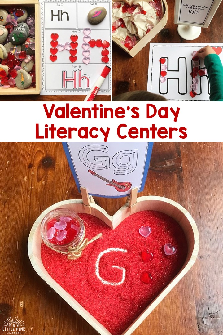 February is right around the corner, so I thought I'd share how we transform the Alphabet and Beginning Sound Literacy Bundle into the perfect centers for Valentine's Day! Just add a few accessories and you are all ready for the holiday of hearts and love.