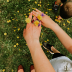 DIY dandelion rings with kids!