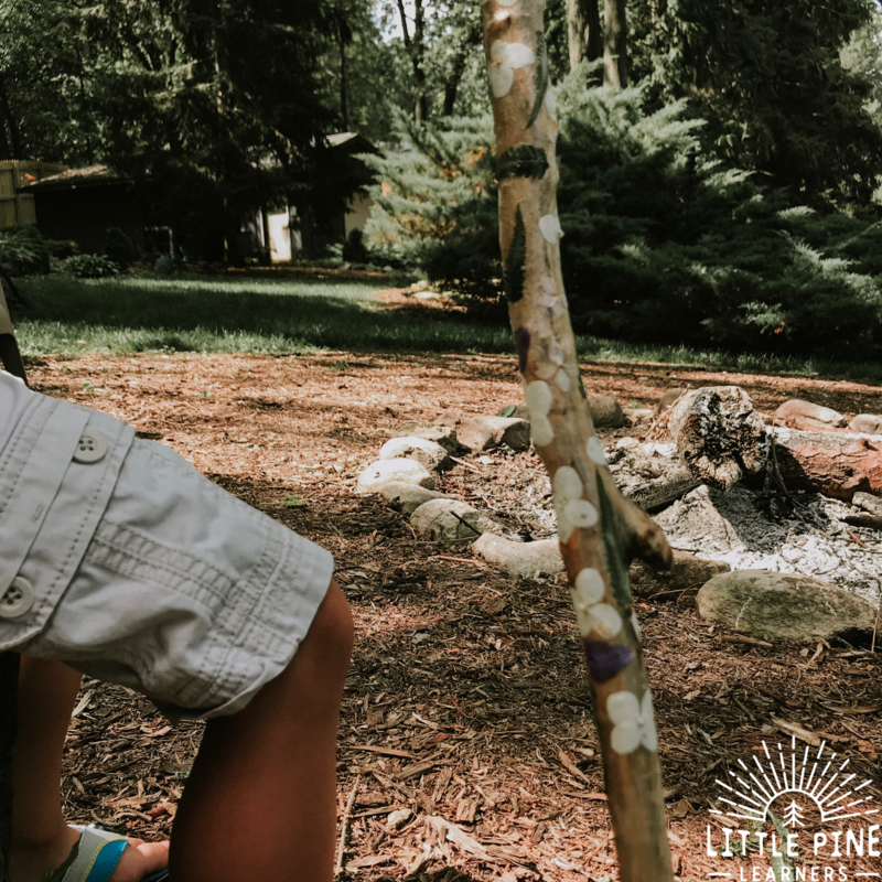 Learn how to make a beautiful flower hiking stick for kids!
