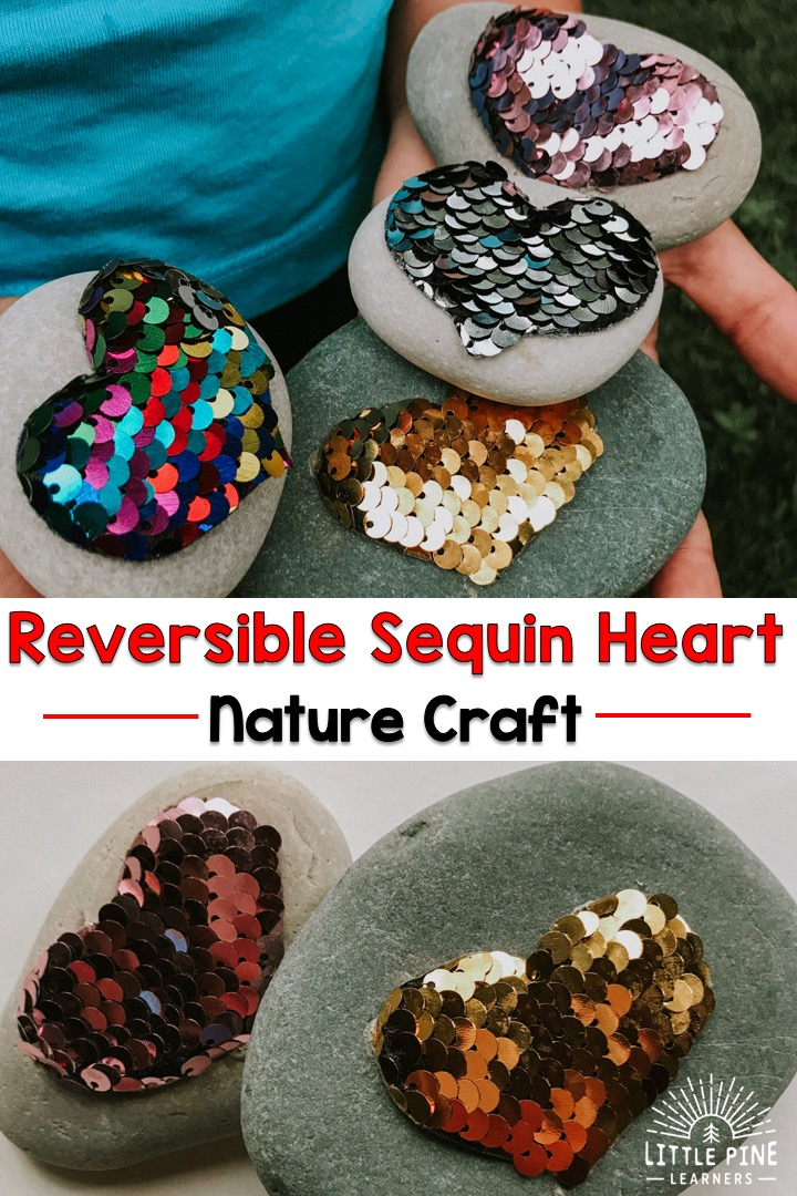 Wether you're looking for a calm down tool, a unique Valentine's day gift for classmates or a teacher, or just want to try a new craft, then this one's for you. The beautiful reversible sequins look stunning against the rocks and they are so soothing to play with.
