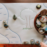 Check out this simple activity to try with story stones! There are endless ways to use this story telling mat and its extremely simple to recreate at home.