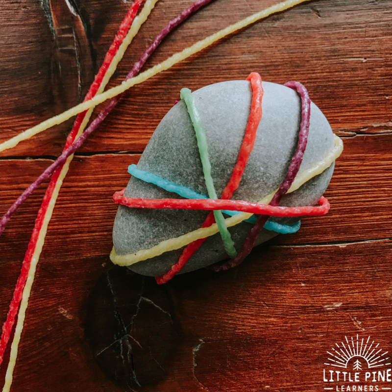 Looking for a simple stone activity that is no prep, totally doable for even the littlest rock hounds, and turns out bright and beautiful every time? I have just the activity for you!