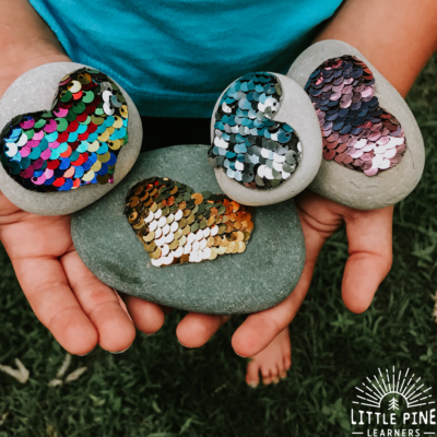 Reversible Sequin Heart Nature Craft