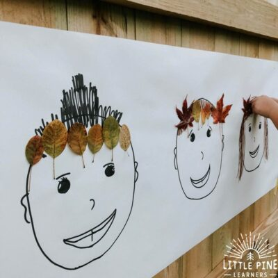A Simple Fall Leaf Crown Activity (you can do over and over again)
