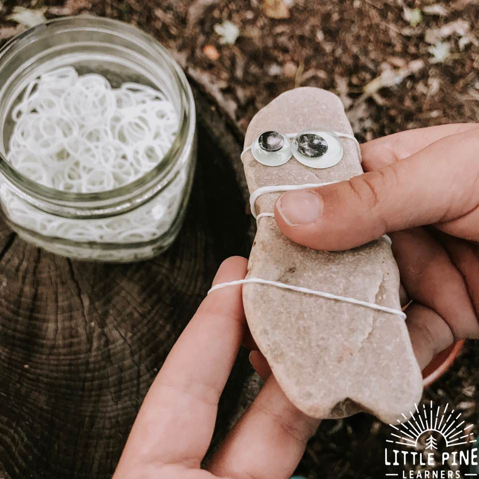 Try this simple invitation to create a rock mummy and make a not so spooky Halloween craft. Read the post to see what makes it extra special!