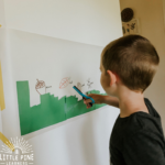 Try this activity for a fun way to work on scissor practice, gross motor skills and fall nature vocabulary words.