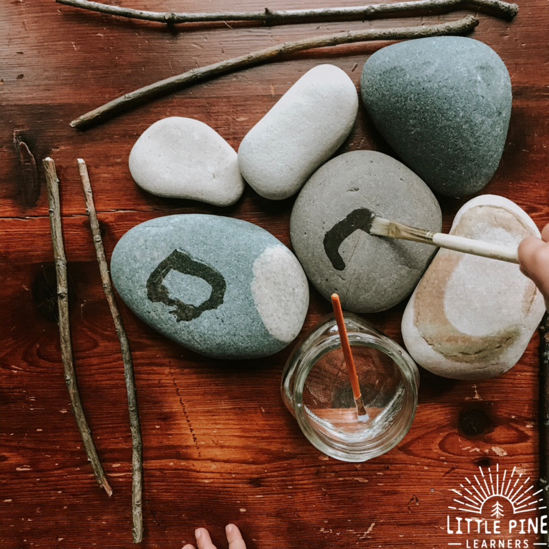 Here you will find 10+ stone and rock themed nature crafts, literacy and other kids learning activities! These unique and creative activities are irresistible and I promise you will find a handful to try with your little rock hound! These are perfect for the homeschool, outdoor or traditional classroom.