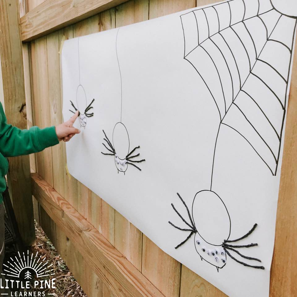 Here is a simple spider anatomy activity that's easy to set up and can be enjoyed over and over again. This activity is perfect for Halloween or general spider study. The legs and googly eyes stick to the paper, making this an irresistible activity for kids of all ages.