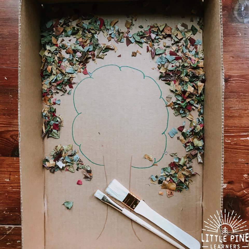Here is a fun fine motor activity to try this fall! With just a few simple supplies, children can work on hand-eye coordination, pencil grasp and other important fine motor skills.