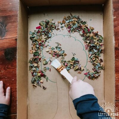 Leaf Sweep Fine Motor Activity