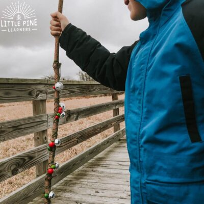 Jingle Bell Holiday Hiking Stick for Kids