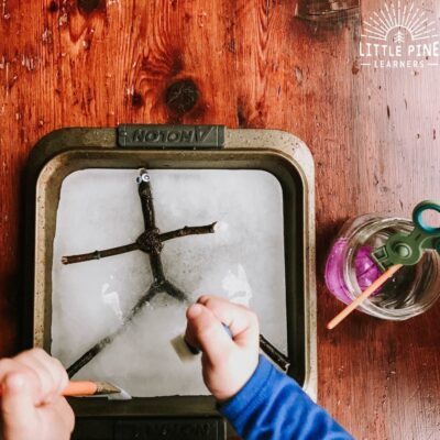 Rescue Stick Man: Icy Sensory Play