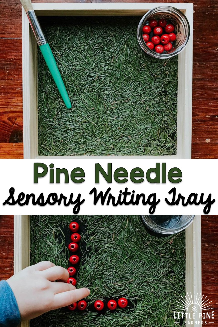 Beautiful sensory writing tray!