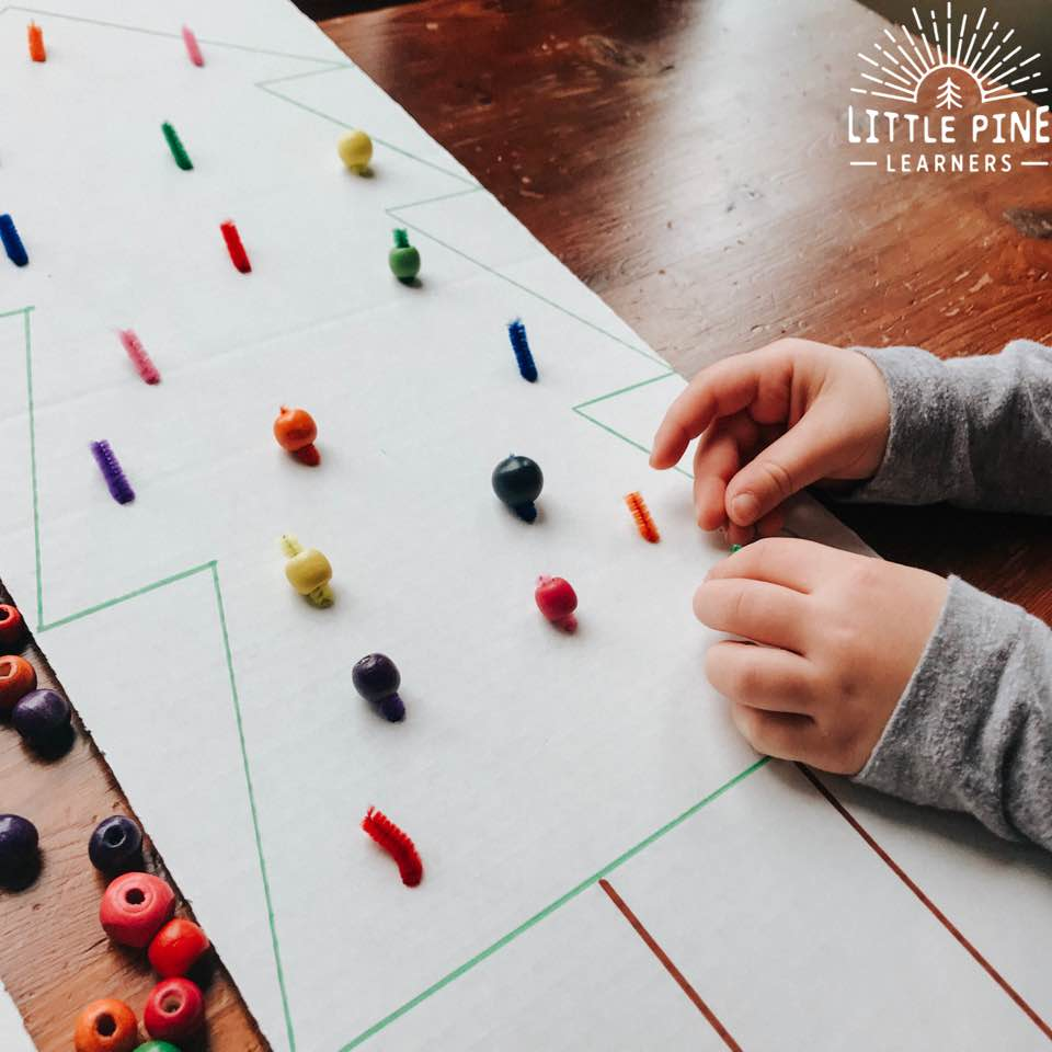 Here is a fun Christmas tree activity that's perfect for working on color recognition and fine motor skills. With just a few supplies and you have a fun and engaging activity that doubles as piece of holiday wall art when complete. Just grab some cardboard and markers to get started on this simple DIY holiday project.