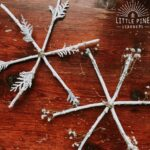Fun stick snowflake craft for winter!