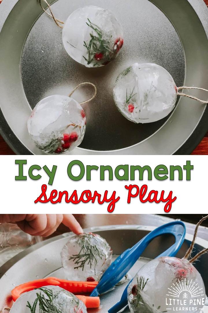 Ice sensory play!