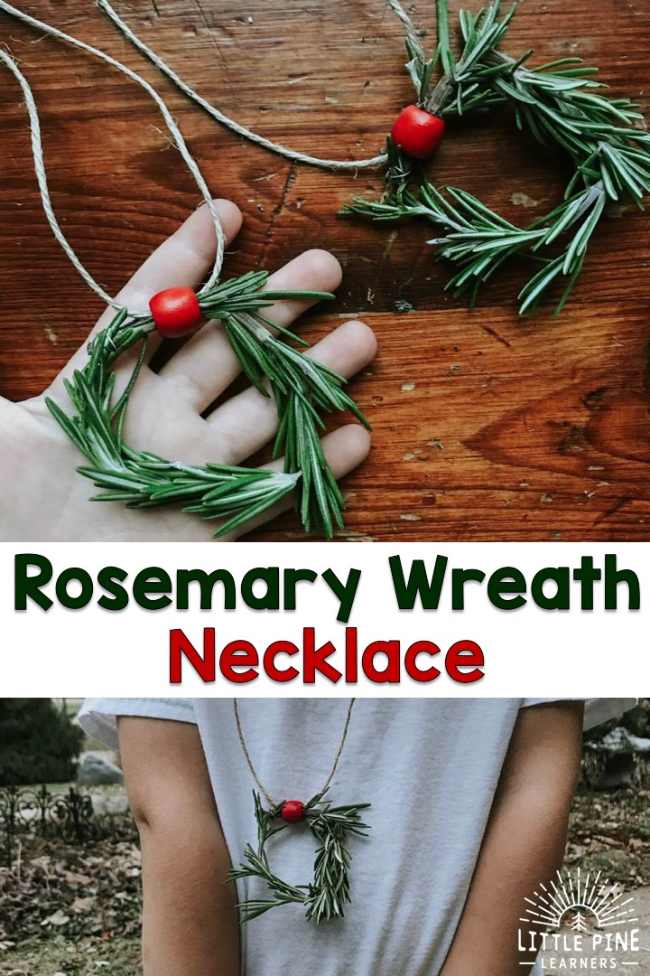This absolutely adorable mini rosemary wreath necklace is a must have accessory for kids this holiday season! They smell amazing, look perfect with any holiday outfit, and are super easy to make. In this post, I'll teach you how to make the mini wreaths and share some aromatherapy benefits of rosemary that just so happens to be perfect for the holiday season!