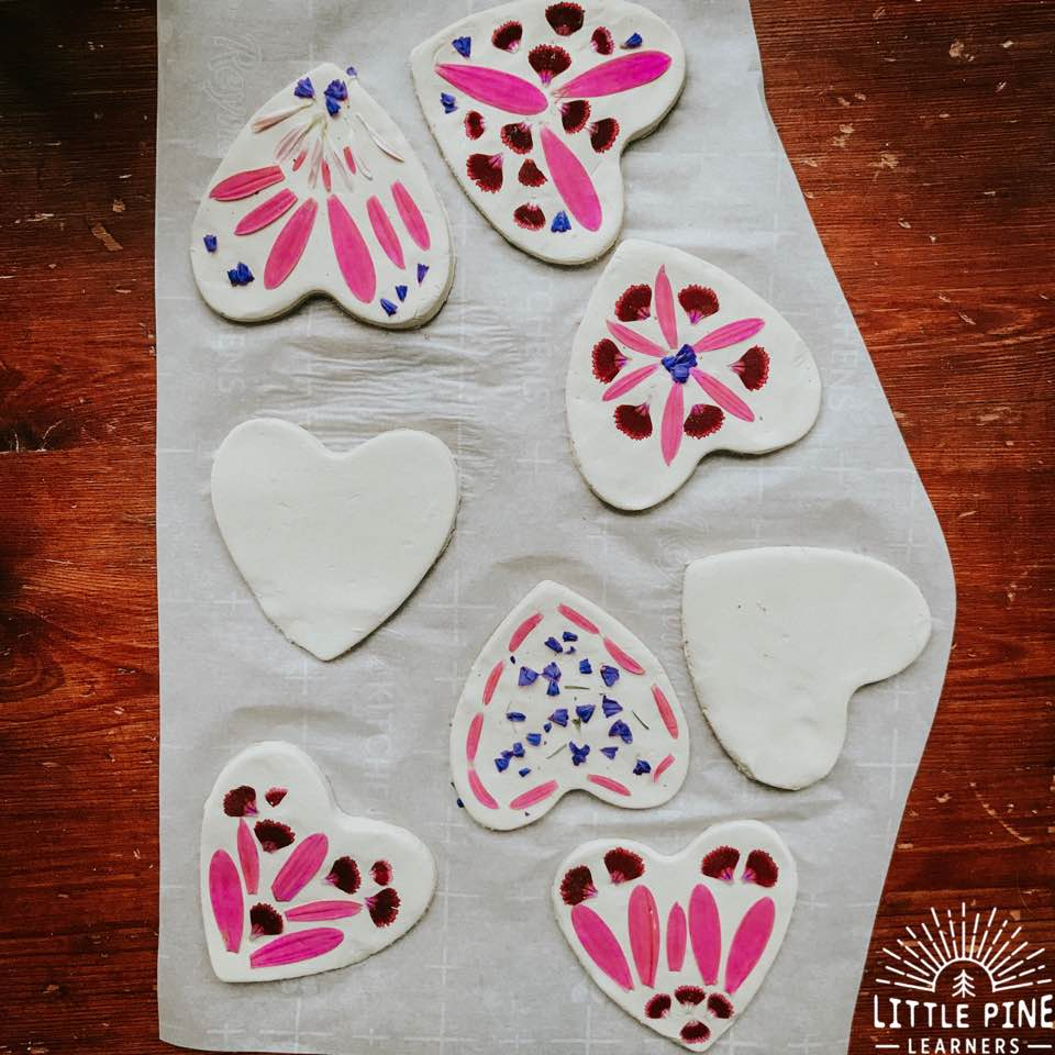 Try making this simple and gorgeous nature valentine keepsake! It's easy enough for a preschooler, yet older kids will love making this nature craft as well.