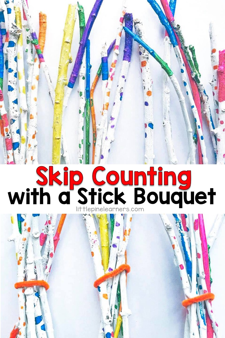 Get your kids involved in making their very own learning tools by making this DIY painted stick bouquet. This eco-friendly math manipulative doubles as a beautiful branch bouquet and home or classroom decoration when not in use. Just gather a bunch of sticks and grab some paint to get started on this fun early math project!