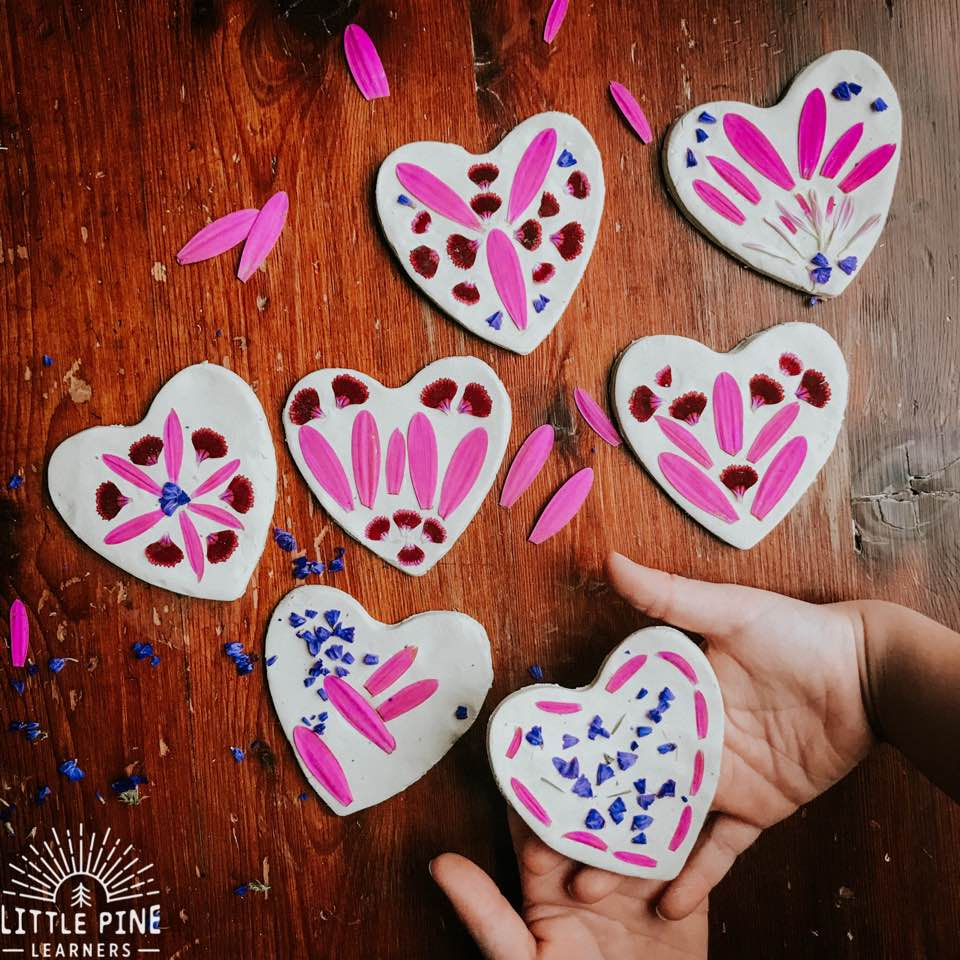 Valentine's Day is right around the corner, so I thought I'd share 10 0f my favorite nature heart activities for kids! These activities include simple and beautiful nature crafts, sensory activities, fine motor work, learning activities and handmade Valentine's that will melt hearts!
