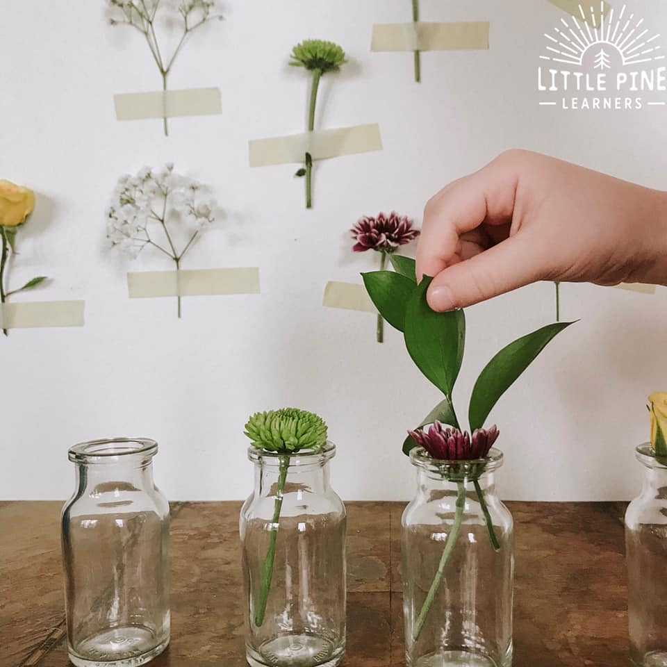 Flower Tape Rescue Activity for Kids