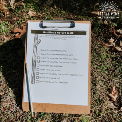 20+ Outdoor Nature Walk Checklist and Scavenger Hunt Printables