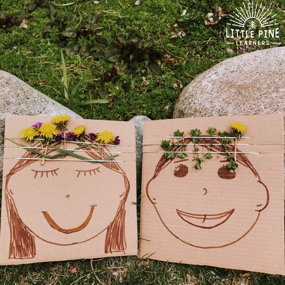 Try this simple and fun nature craft during your next outdoor adventure with your kids! You just need a few supplies and can reuse the crafting boards over and over again. Just grab some cardboard and rubber bands that you have around the house and start creating these cute nature weaving boards.