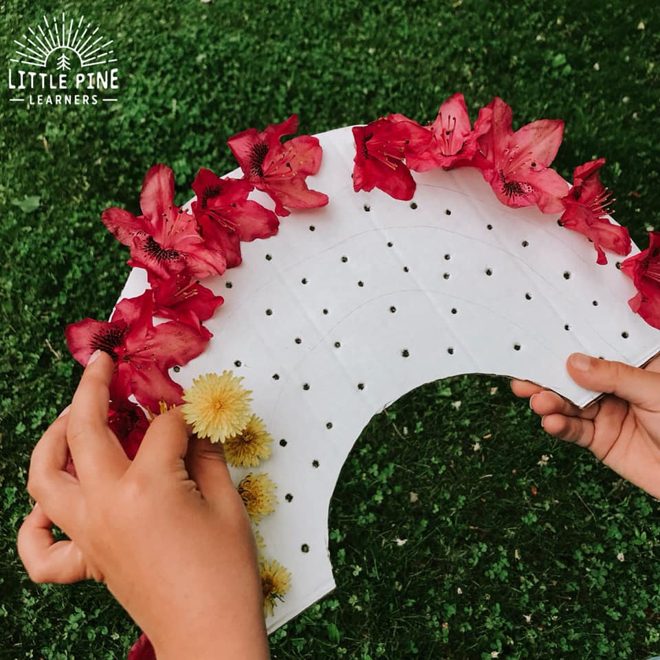 Explore colors in a new and fun way with this simple outdoor craft for kids!