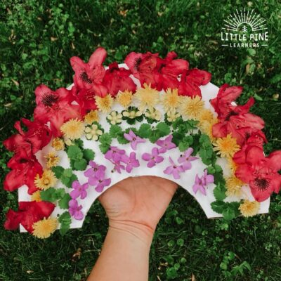 Rainbow Flower Threading Board