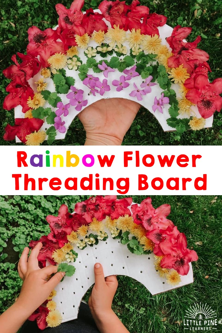 Explore colors in a new and fun way with this simple outdoor activity for kids. This reusable cardboard rainbow takes just minutes to set up and will be loved throughout the spring and summer seasons! Kids will love decorating the rainbow while working on color recognition, hand-eye coordination, and strengthening fine motor skills.