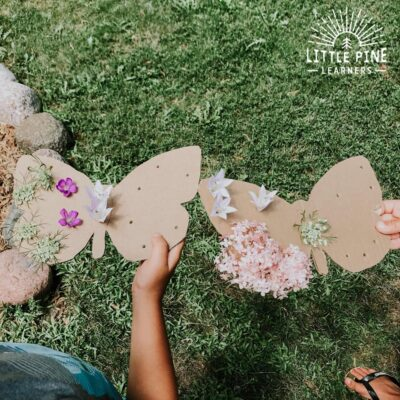 Learning about butterflies lends itself nicely to teaching kids about symmetry! This hands-on activity is so easy to prep and looks gorgeous when finished. Turn off the screens, go outside, and give this recyclable nature craft a try today!