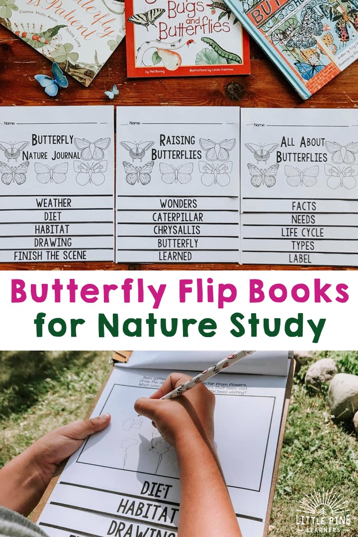 Three butterfly flip books for kids!