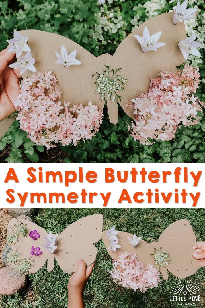 A simple butterfly symmetry activity for kids!