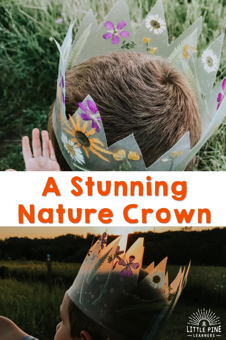 Start pressing your flowers today! This stunning nature crown can be saved and used over and over again. The beautiful pressed flowers keep their vibrant colors and look so beautiful in the crown! Make one today and keep it for years to come.