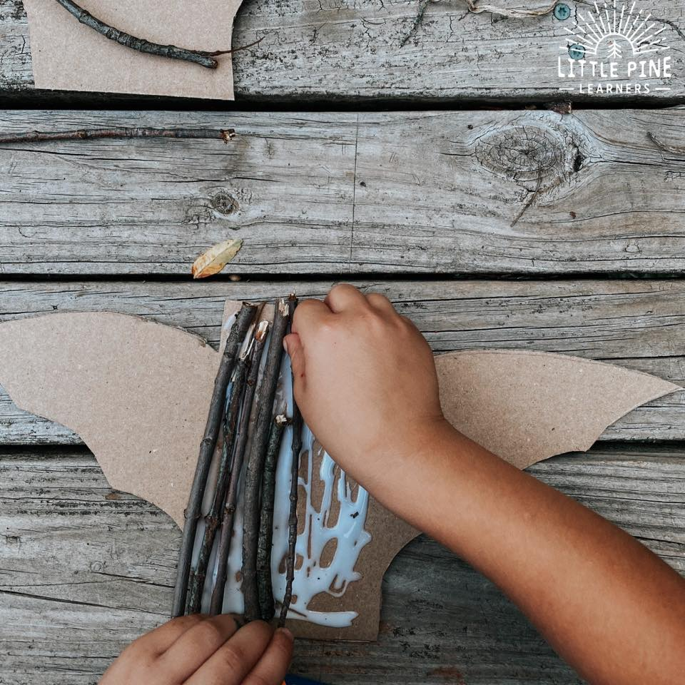 Stick and leaf fall activity!