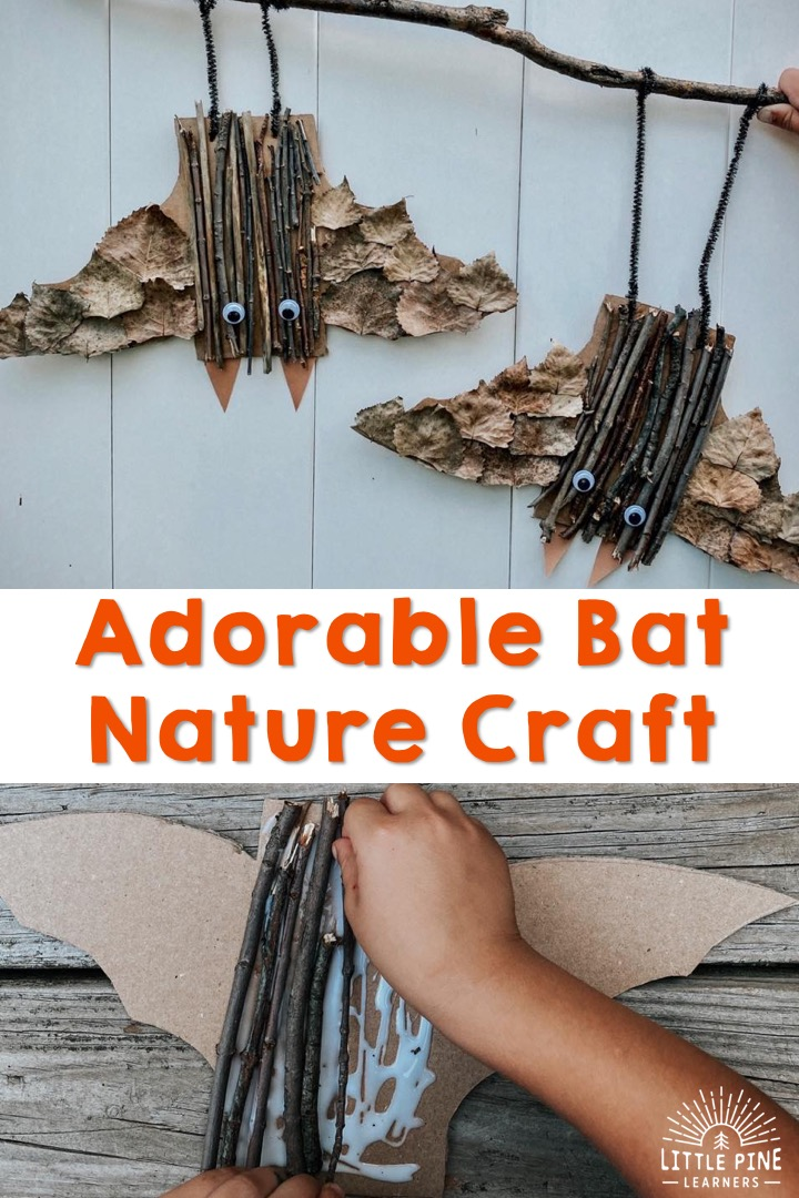 Here is a cute and unique bat craft for fall or Halloween!