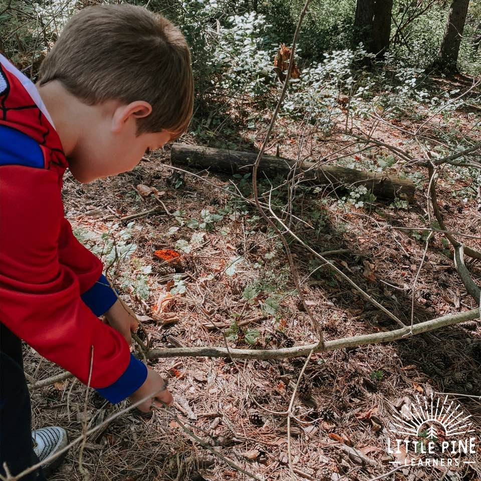 Here is a beautiful stick craft that children of all ages will love! This is the perfect activity to spark creativity and encourage nature play. Children will love searching for the perfect sticks and creating their dancing nature picture! Get outside and try it today.