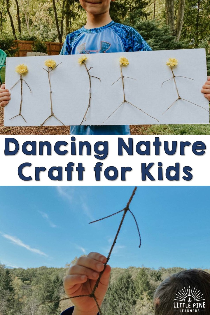 Here is a beautiful stick craft that children of all ages will love! This is the perfect activity to spark creativity and encourage nature play. Children will love searching for the perfect sticks and creating their dancing nature craft! Get outside and try it today.